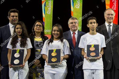 Editorial image of Brazil OLY Medals, Rio de Janeiro, Brazil