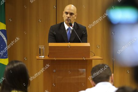 "Alexandre de Moraes Brazil's Justice Minister Alexandre de Moraes speaks on the arrest of 10 people who allegedly pledged allegiance to the Islamic State group on social media and discussed possible attacks during the Rio de Janeiro Olympics, at the Ministry of Justice, in Brasilia, Brazil, . However ""they were complete amateurs and ill-prepared"" to actually launch an attack, Moraes said. ""A few days ago they said they should start practicing martial arts, for example."" Moraes says two more suspects are being sought"