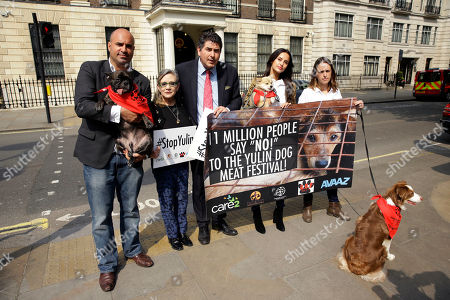 Editorial picture of Britain China Dog Meat Festival, London, United Kingdom