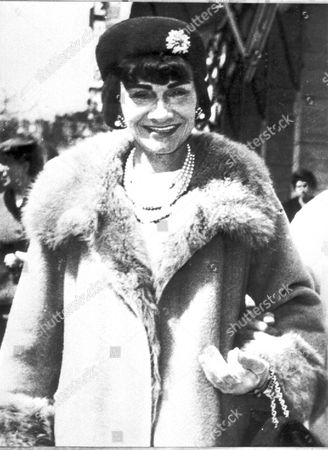"French fashion designer Gabrielle ""Coco"" Chanel is shown in this undated photo"