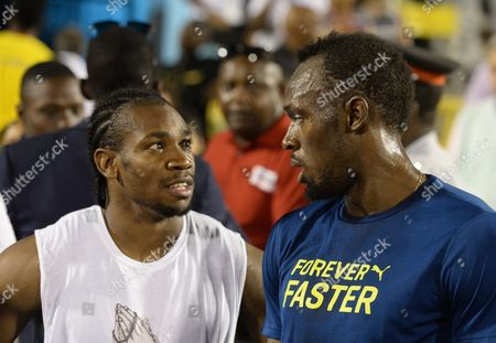 Usain Bolt, Yohan Blake Usain Bolt, right, of Jamaica, speaks with compatriot Yohan Blake after the 100-meter final at the Racers Grand Prix track and field event at the National Stadium in Kingston, Jamaica. The most dominant runner at Jamaica's national track and field championships this summer was not a superstar sprinter like Usain Bolt, Yohan Blake or Veronica Campbell-Brown. It was Kemoy Campbell
