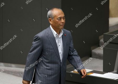 Yoichi Masuzoe Tokyo Gov. Yoichi Masuzoe leaves the session for recess of the Tokyo metropolitan assembly in Tokyo . Japanese media reports say Masuzoe submitted his resignation on Wednesday, June 15, 2016, over a political funds scandal. Earlier reports said it would take effect June 21