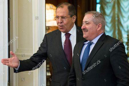 Sergey Lavrov, Nasser Judeh Russian Foreign Minister Sergey Lavrov, left, welcomes Jordanian Foreign Minister Nasser Judeh before their talks in Moscow, Russia, . The talks focused on bilateral ties and the situation in Syria