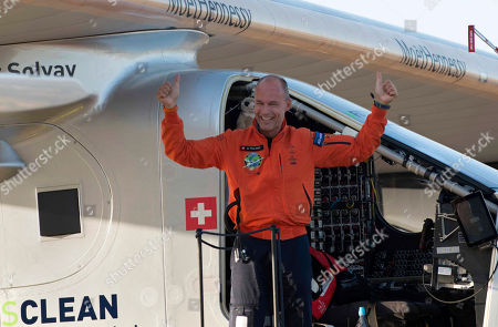 Bertrand Piccard Pilot Bertrand Piccard, celebrates after landing the solar-powered plane at San Pablo airport in Seville, Spain . An experimental solar-powered airplane Thursday completed an unprecedented three-day flight across the Atlantic in the latest leg of its globe-circling voyage.The Solar Impulse 2 landed in Seville in southern Spain at 0540 GMT on Thursday, ending a 70-hour flight which began from New York City on Monday. It was the first time a solar-powered plane has made such a journey using zero fuel and zero emissions, organizers said. AP Photo/Laura Leon