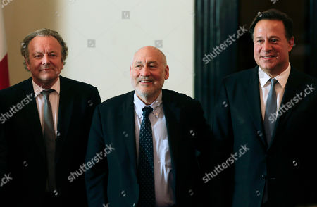 Juan Carlos Varela, Joseph Stiglitz, Mark Pieth Panama's President Juan Carlos Varela, right, poses for a photo with Nobel economics laureate Joseph Stiglitz, center, and Mark Pieth, a professor of criminal law and criminology at the University of Basel, in Panama City, . The government of Panama has established a committee of independent experts to make recommendations on cleaning up the country's financial system, after leaks of documents from the Panamanian law firm Mossack Fonseca caused an international uproar over offshore accounts. The advisory group includes Stiglitz and Pieth