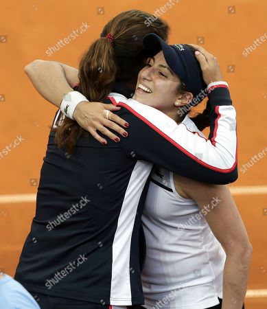 Christina McHale Christina McHale of the U.S. celebrates with her captain Mary Joe Fernandez, left, after winning her match against Australia's Samantha Stosur 3-6, 6-1, 7-5, during their Fed Cup World Group tennis play-off in Brisbane, Australia
