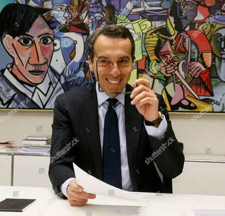 Christian Kern In this Feb. 10, 2016 file picture, CEO of OeBB holding, the Austrian railway company, Christian Kern speaks during an interview with The Associated Press in Vienna. Kern is a likely candidate to replace Austrian chancellor Werner Faymann who resigned Monday, German and Austrian media reported . (AP Photo/Ronald Zak