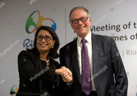 Nawal El Moutawakel, Carlos Arthur Nuzman Nawal El Moutawakel, head of the International Olympic Committee's evaluation commission, left, and Brazil Olympic Committee President Carlos Arthur Nuzman pose for a photo after a press conference in Rio de Janeiro, Brazil, . Rio de Janeiro will host the 2016 Olympic games