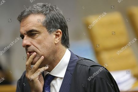 "Jose Eduardo Cardoso Brazil's Attorney General Jose Eduardo Cardozo attends a court session in Brasilia, Brazil, . Brazil's top court said it would soon rule on President Dilma Rousseff's motion to annul the upcoming impeachment vote against her, a process that the top legal official in her government said had been ""contaminated"