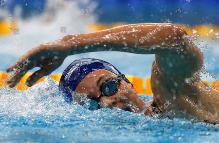 Britain's Jazmin Carlin competes in the women's 800-meter freestyle during the European Swimming Championships in London, Britain