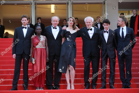 Actors Olivier Bonnaud, Nadege Ouedraogo, director Luc Dardenne, Adele Haenel, director Jean-Pierre Dardenne, Louka Minnella and Jeremie Renier from left, pose for photographers upon arrival at the screening of the film La Fille Inconnue (The Unkown Girl) at the 69th international film festival, Cannes, southern France
