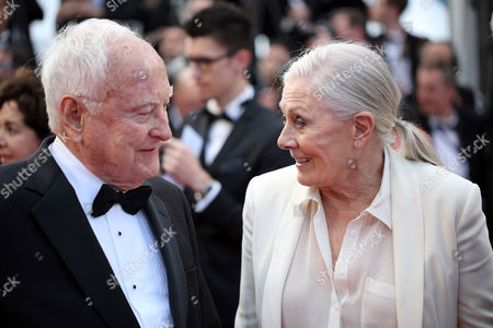 Director Jim Ivory, left and actress Vanessa Redgrave pose for photographers for the screening of the film Money Monster at the 69th international film festival, Cannes, southern France