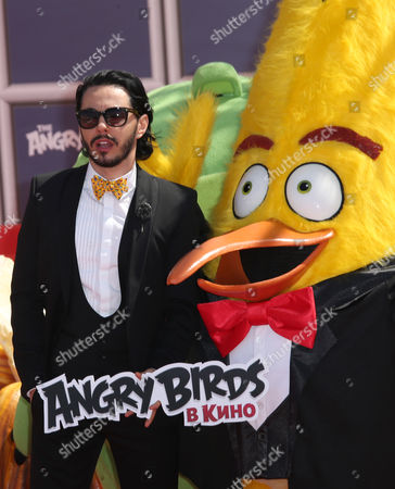 Stock Image of Timur Rodriguez Timur Rodriguez the voice of the character Chuck in the Russian language version, poses for photographers during a photo call for the film The Angry Birds Movie, at the 69th international film festival, Cannes, southern France