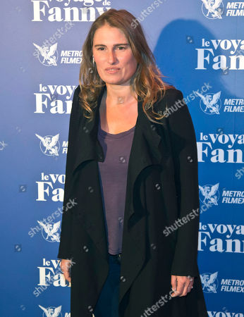 "French director Lola Doillon poses for the film premiere""le voyage de Fanny""in Paris, France"