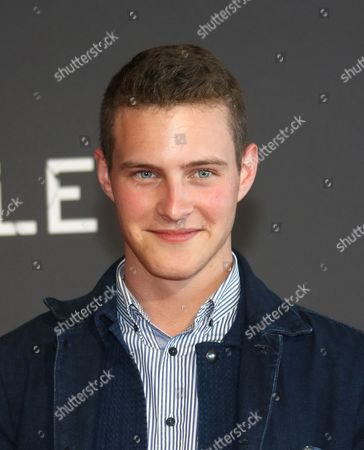 """Stock Image of Guillaume Arnault French actor Guillaume Arnault, poses at the premiere of the serie """"Marseille"""", in the Pharo Palace, in Marseille, southern France, . """"Marseille"""" is the first TV series produced by Netflix in France"""