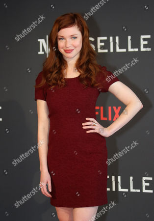 "Stock Photo of Carolina Jurczak Actress Carolina Jurczak poses at the premiere of the serie ""Marseille"", in the Pharo Palace, in Marseille, southern France, . ""Marseille"" is the first TV series produced by Netflix in France"