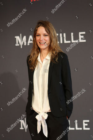 "Stephane Caillard French actress Stephane Caillard poses at the premiere of the serie ""Marseille"", in Marseille, southern France, . ""Marseille"" is the first TV series produced by Netflix in France"