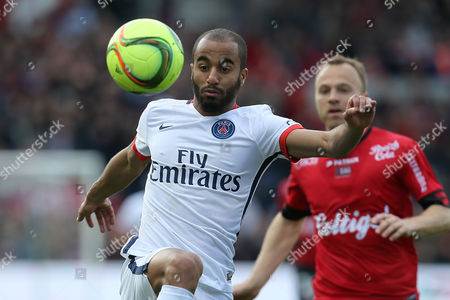 Editorial photo of France Soccer League One, Guingamp, France