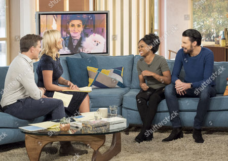 Stock Picture of Ben Shephard and Holly Willoughby with Relley C and Rylan Clark