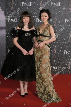 Ivana Wong, Fiona Sit Hong Kong actresses Ivana Wong, right, and Fiona Sit pose on the red carpet of the Hong Kong Film Awards in Hong Kong