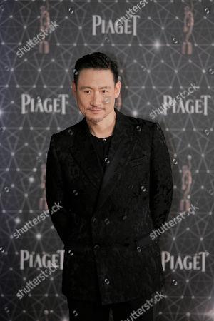 Jacky Cheung Hong Kong actor Jacky Cheung poses on the red carpet of the Hong Kong Film Awards in Hong Kong