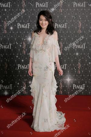 Stock Image of Jacky Cai Chinese actress Jacky Cai poses on the red carpet of the Hong Kong Film Awards in Hong Kong