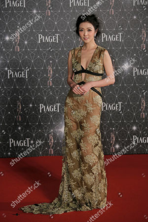 Stock Image of Fiona Sit Hong Kong actress Fiona Sit poses on the red carpet of the Hong Kong Film Awards in Hong Kong