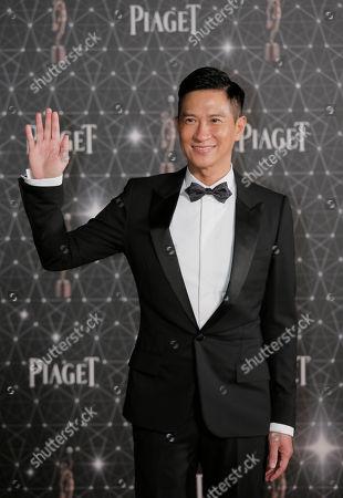 Nick Cheung Hong Kong actor Nick Cheung poses on the red carpet of the Hong Kong Film Awards in Hong Kong