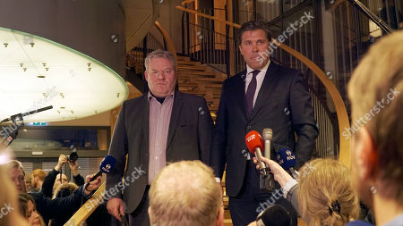 Sigurdur Ingi Johannsson, Bjarni Benediktsson Iceland's Sigurdur Ingi Johannsson, left, deputy chairman of the Progressive Party, and Bjarni Benediktsson, leader of the Independence Party attend a press conference at parliament in Reykjavik, Iceland . Johannsson said Wednesday he will seek the president's approval to become the country's next prime minister after the previous leader resigned because of revelations he had offshore accounts. Progressive Party is in a coalition government with the Independence Party