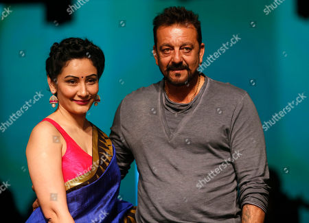 Sanjay Dutt, Manyata Bollywood actor Sanjay Dutt and his wife Manyata pose for the media during the Lakme Fashion Week in Mumbai, India