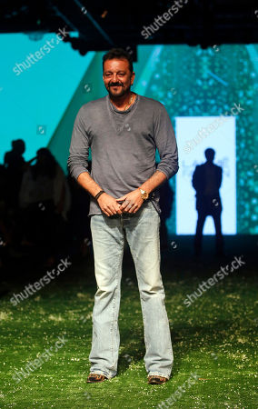 Sanjay Dutt Bollywood actor Sanjay Dutt poses for the media during the Lakme Fashion Week in Mumbai, India