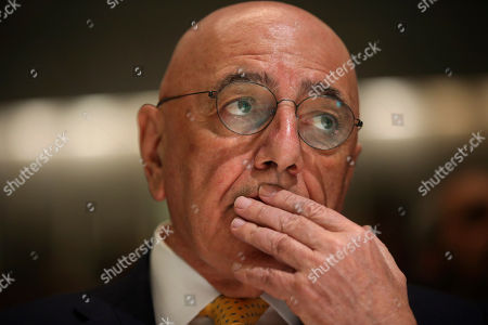 AC Milan vice president Adriano Galliani attends 'The Value of the UEFA Champions League Final' event at the Bocconi University, in Milan, Italy