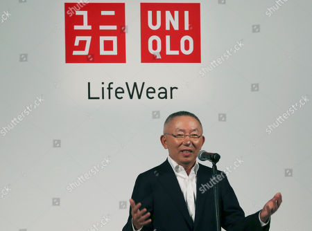 Tadashi Yanai Fast Retailing chief executive Tadashi Yanai speaks to the media in Tokyo. Japanese clothing company Uniqlo, a 17-nation 1,734-store empire that has thrived on a formula of churning out variations of colors and sizes of simple items like fleece tops and polo shirts. But now, the company hopes to become the world's biggest apparel maker and is hiring foreign talent to add fashion flair and arty collaborations to its already established reputation for using technology in materials and fabrics. It also wants to grow globally. Yanai founded Uniqlo's 100,000-employee parent company Fast Retailing in southwestern Japan's Yamaguchi prefecture as a maker of affordable, functional and still popular products like its HeatTech and AIRism underwear