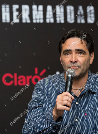"Carlos Bolado Mexican director Carlos Bolado speaks during a press conference to promote his upcoming television series ""La Hermandad,"" in Mexico City, . The creators of ""La Hermandad,"" which will be distributed on digital platform Claro Video, are hoping to popularise the thriller genre in Latin America"