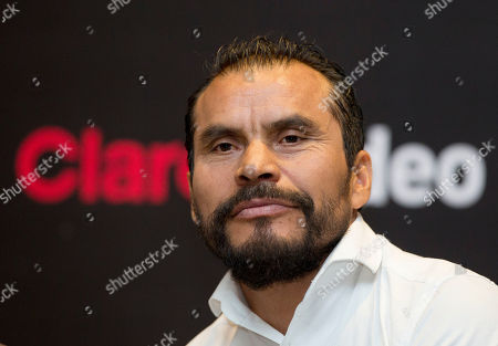 """Stock Photo of Noe Hernandez Mexican actor Noe Hernandez listens during a press conference to promote his upcoming television series """"La Hermandad,"""" in Mexico City, . The creators of """"La Hermandad,"""" which will be distributed on digital platform Claro Video, are hoping to popularise the thriller genre in Latin America"""