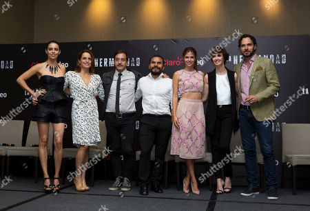 """Olga Segura, Claudette Maille, Andres Almeida, Noe Hernandez, Stephanie Cayo, Paz Vega, Manolo Cardona The cast of the upcoming television series """"La Hermandad"""" poses for a picture following a press conference to promote the show, in Mexico City, . From left, are Mexican actresss Olga Segura and Claudette Maille, Mexican actors Andres Almedia and Noe Hernandez, Peruvian actress Stephanie Cayo, Spanish actress Paz Vega, and Colombian actor Manolo Cardona. The Spanish-language series will be distributed on the digital platform Claro Video"""