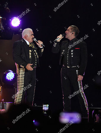Vicente Fernandez, Alejandro Fernandez Mexican singer Vicente Fernandez sings with his son Alejandro during a free concert at Azteca Stadium in Mexico City, . Vicente Fernandez dazzled in his farewell concert in the Azteca Stadium. The star of Mexican regional music toured more than 50 years of experience across the wide repertoire of his farewell concert