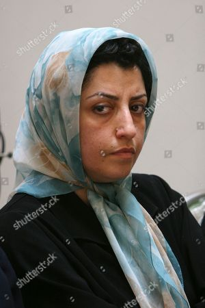 Narges Mohammadi In this Aug. 27, 2007 photo, prominent Iranian human rights activist Narges Mohammadi attends a meeting on women's rights in Tehran, Iran. Mohammadi, who is already imprisoned in Iran has been sentenced to 10 years in prison in a new trial, a ruling denounced by the United Nations, as it called for her immediate release. Mohammadi is close to Iranian Nobel Peace Prize laureate Shirin Ebadi, who founded the Defenders of Human Rights Center