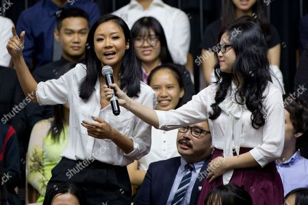 Suboi Vietnamese rapper Suboi, left, raps during a town-hall style event hosted by U.S. President Barack Obama for the Young Southeast Asian Leadership Initiative (YSEALI) at the GEM Center in Ho Chi Minh City, Vietnam, . Obama is wrapping up his visit to Vietnam before traveling to Japan for the G-7 summit and a visit to Hiroshima
