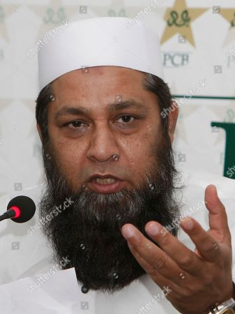 Inzamam ul Haq Pakistan cricket chief selector Inzamam-ul-Haq addresses a press conference in Lahore, Pakistan, . Inzamam said Mohammad Hafeez has still not recovered from knee injury for the test series against England, starting in July
