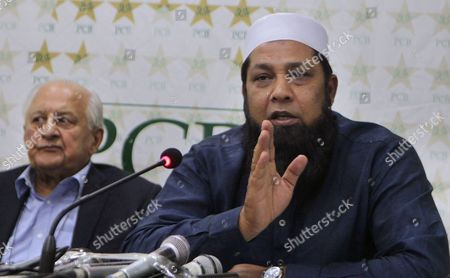 "Inzamam-ul-Haq Shaharyar Khan Former skipper of the Pakistan cricket team Inzamam-ul-Haq, right, speaks during a press conference with Pakistan Cricket Board's Chairman Shaharyar Khan, in Lahore, Pakistan, . Pakistan Cricket Board has appointed Inzamam as the head of new selection committee which also include former test off-spinner Tauseef Ahmed. Inzamam was the coach of Afghanistan cricket team for the last six months, but the ex-Pakistan test captain says he was released by the Afghan Cricket Board to perform ""national duty"