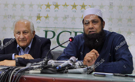 "Inzamam-ul-Haq Shaharyar Khan Former skipper of Pakistan cricket team Inzamam-ul-Haq, right, speaks while Pakistan Cricket Board's Chairman Shaharyar Khan looks on during a press conference in Lahore, Pakistan, . Pakistan Cricket Board has appointed Inzamam as the head of new selection committee which also include former test off-spinner Tauseef Ahmed. Inzamam was the coach of Afghanistan cricket team for the last six months, but the ex-Pakistan test captain says he was released by the Afghanistan Cricket Board to perform ""national duty"