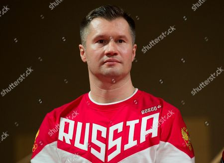 Alexei Nemov Former gymnastic Olympic champion, Alexei Nemov, presents the Russian Olympic team's uniform for Rio de Janeiro 2016 Olympics in the Tretyakov picture gallery in Moscow, Russia