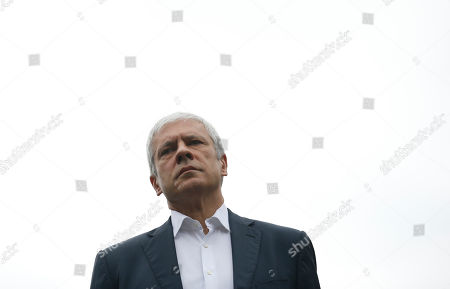 Former Serbian President Boris Tadic attends during the opposition protest in Belgrade, Serbia, . Thousands of opposition supporters have protested in front of the Serbian state electoral commission what their leaders are alleging is widespread vote rigging by the ruling populists