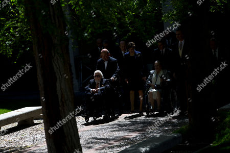 Fernando del Paso Mexican writer Fernando del Paso, left, on a wheelchair, is pushed by his son after he was awarded the Cervantes Prize during a ceremony at the University of Alcala de Henares, outskirts Madrid, Spain, . The Cervantes prize is the Spanish-speaking world's highest literary honor