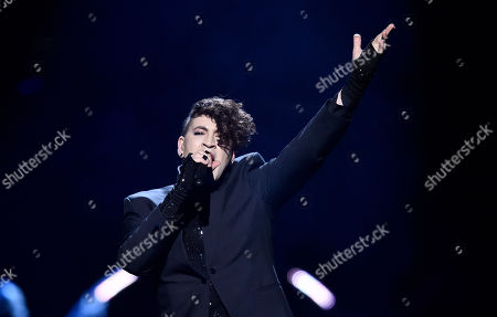 Israel's Hovi Star performs the song 'Made Of Stars' during the second Eurovision Song Contest semifinal in Stockholm, Sweden