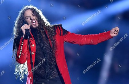 Poland's Michal Szpak performs the song 'Color Of Your Life' during the Eurovision Song Contest final in Stockholm, Sweden