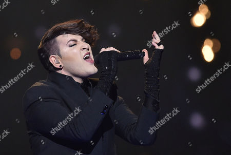 Israel's Hovi Star performs the song 'Made Of Stars' during the Eurovision Song Contest final in Stockholm, Sweden