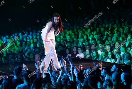 Susana Jamaladinova Ukraine's Eurovision singer Jamala performing during a concert in Kiev, Ukraine
