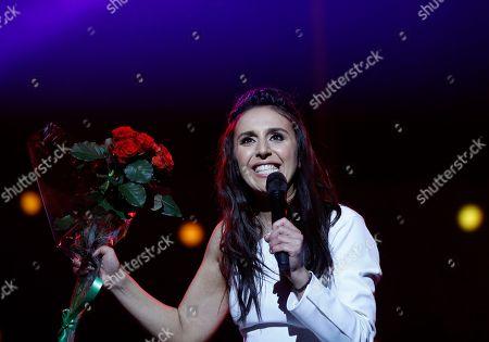 Susana Jamaladinova Ukraine's Eurovision winner singer Jamala performs during a concert in Kiev, Ukraine